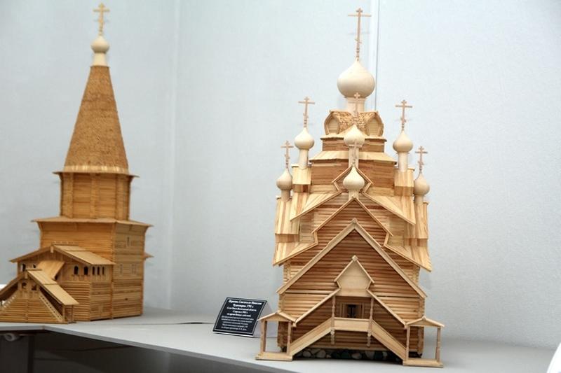 Модель церкви Николая Чудотворца в Оште