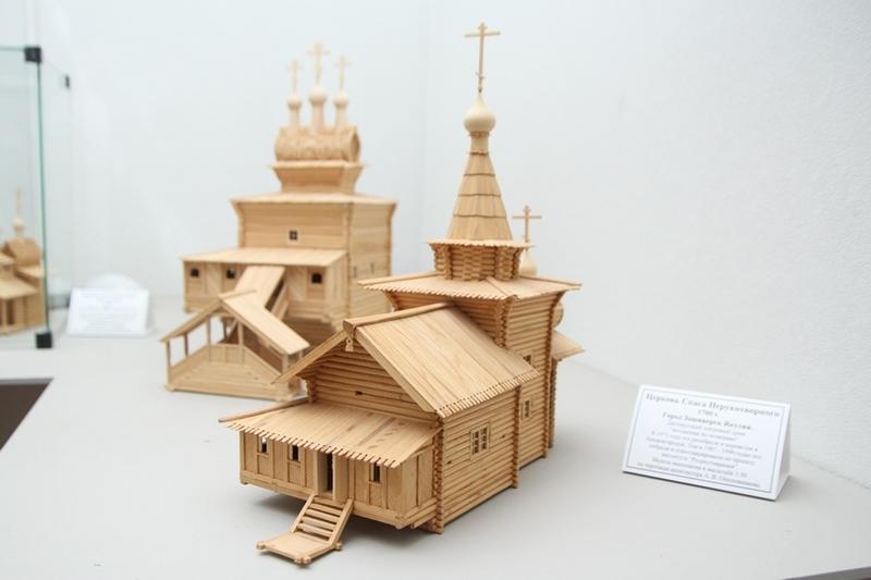 Модель церкви Спаса Нерукотворного из Зашиверска
