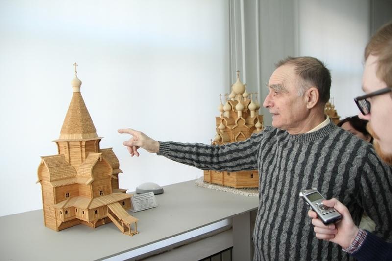 Модель церкви Успения Богородицы Александро-Куштского монастыря
