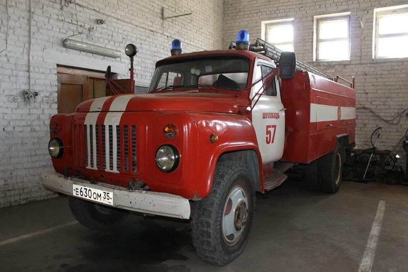 Реальная пожарная машина в Шухободи