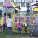 Детская площадка водворе домов №36, №38, №46, №32 поул.Первомайской