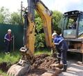 ВКлимовском для отключения коттеджа должника отгаза раскопали газопровод