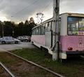 НаКрасноармейской площади сошел срельсов трамвай