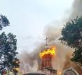 ВКич-Городке молния ударила вкупол церкви