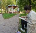 Ученики художественной школы вышли напленэр вВерещагинском квартале