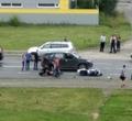 НаСеверном шоссе ваварии пострадал мотоциклист