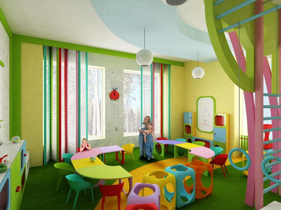 Дизайн групповых комнат детского сада