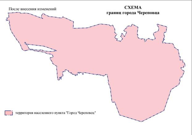 Схема границ города Череповца