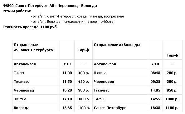 Санкт-Петербург — Череповец —