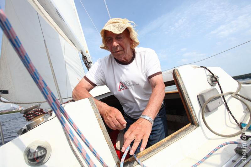 Яхтсмен Борис Балдаев