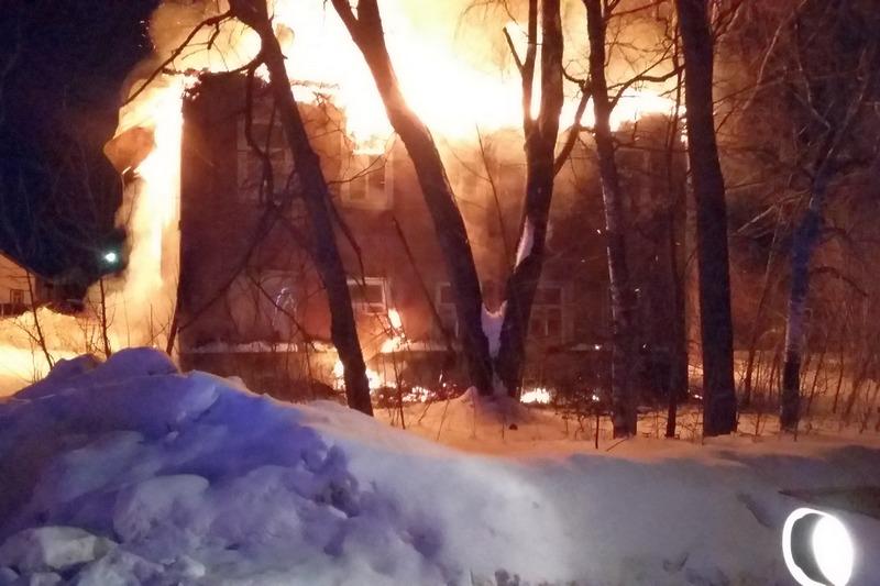 Пожар в Мяксе