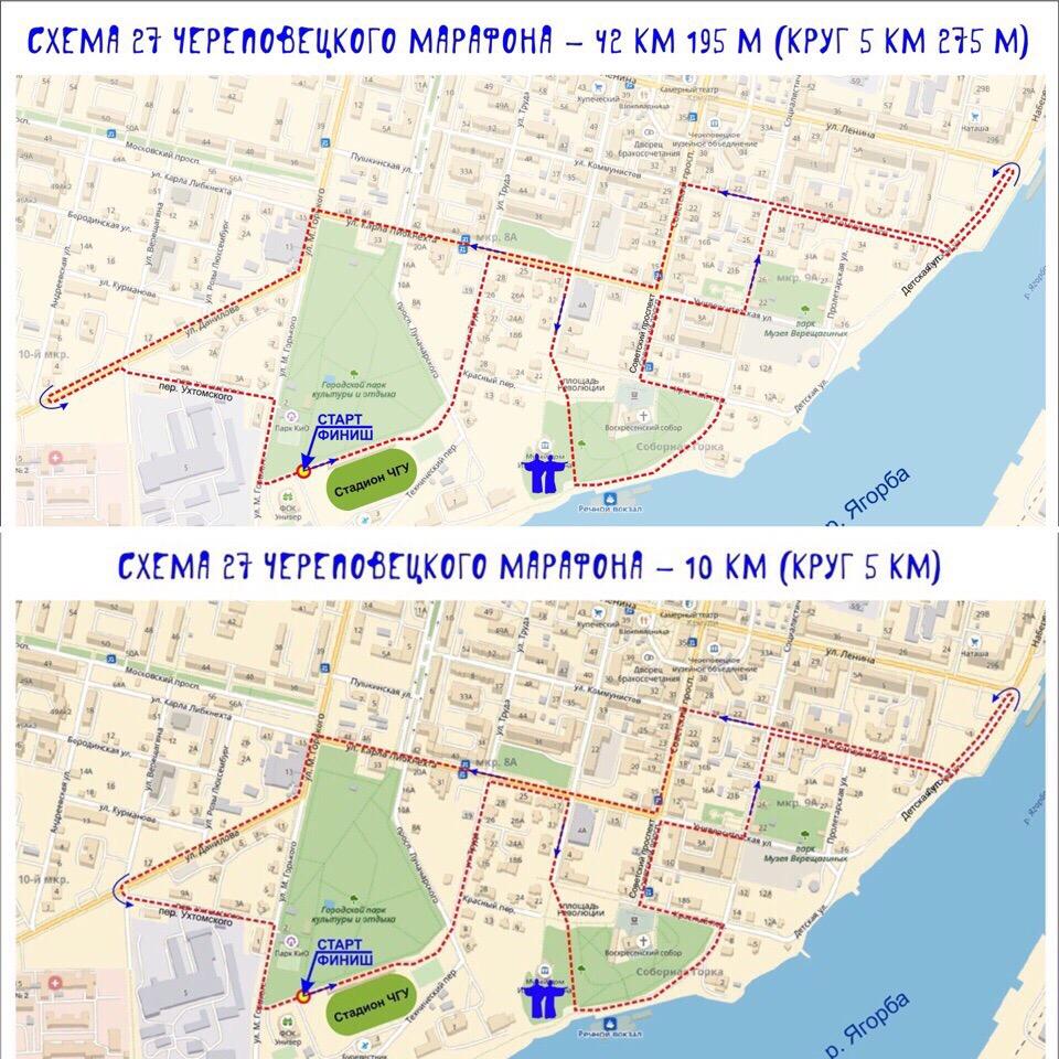 Схема марафона