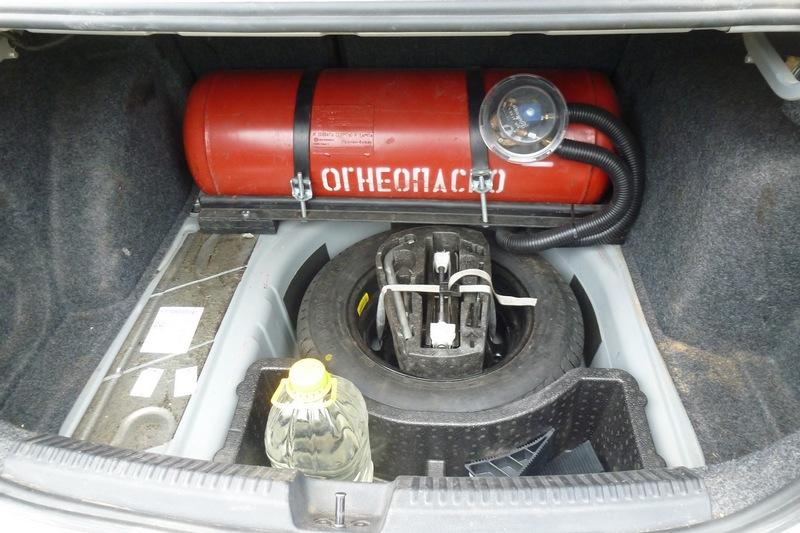 Газ в машине