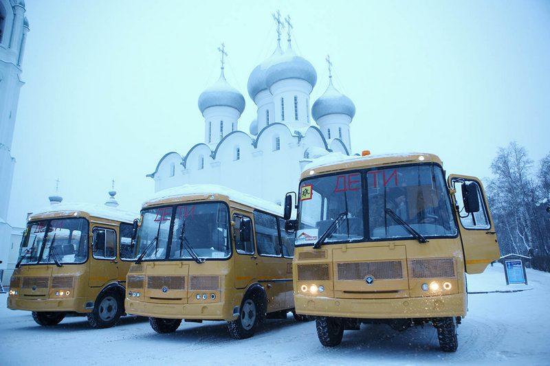Всего в Вологодскую область поступило 17 новых школьных автобусов