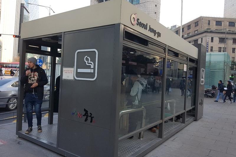Будки для курения в Сеуле