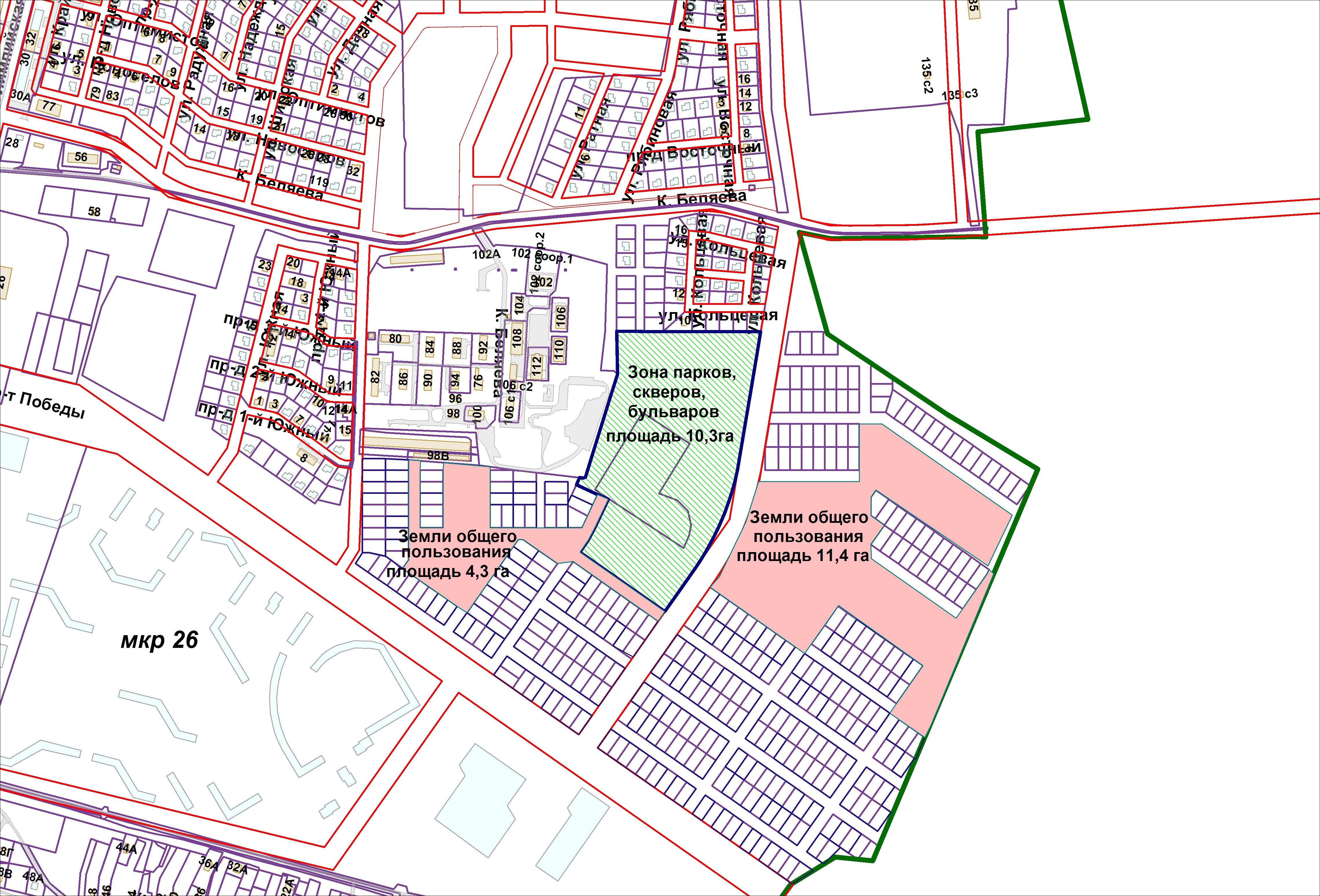Карта зонирования
