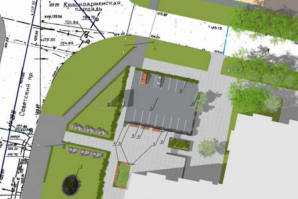 Проект парковки уКрасноармейской площади