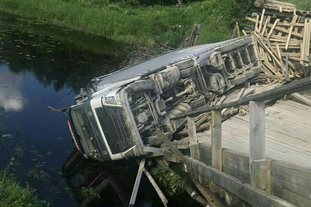 Упавший мост