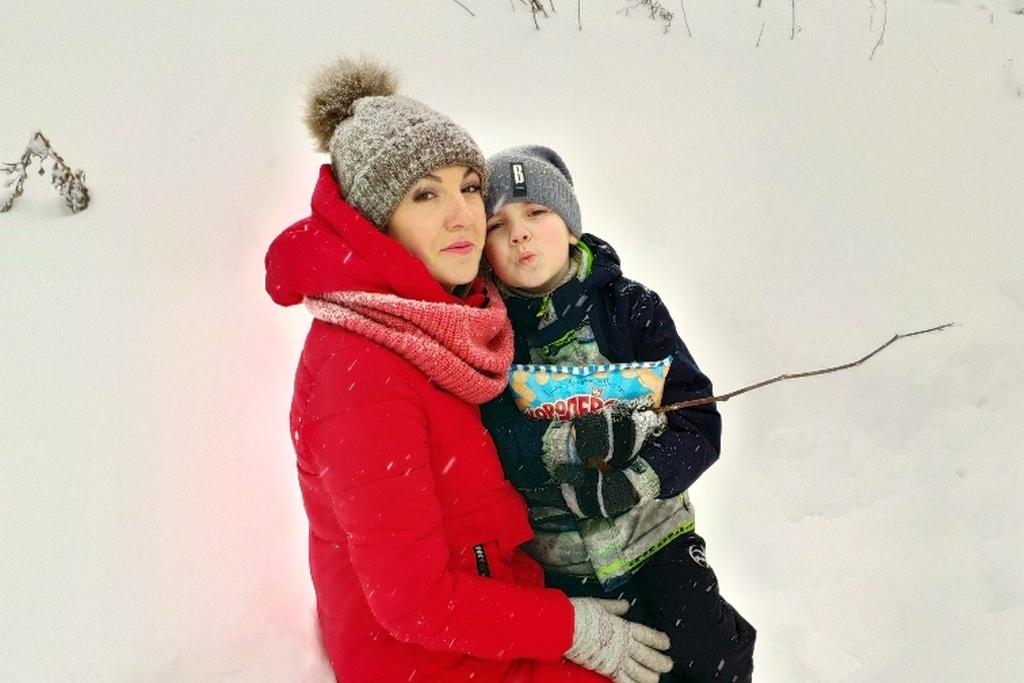 Анна Лобова и ее сын