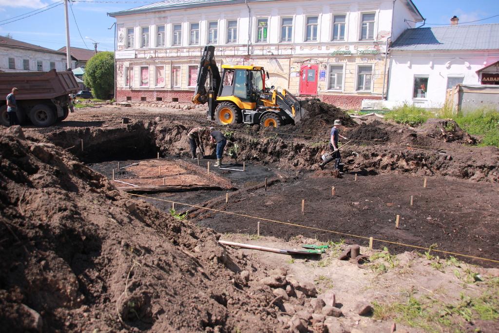 Раскопки в Устюжне
