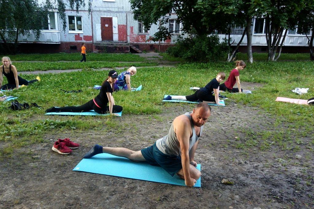 Тренировка во дворе