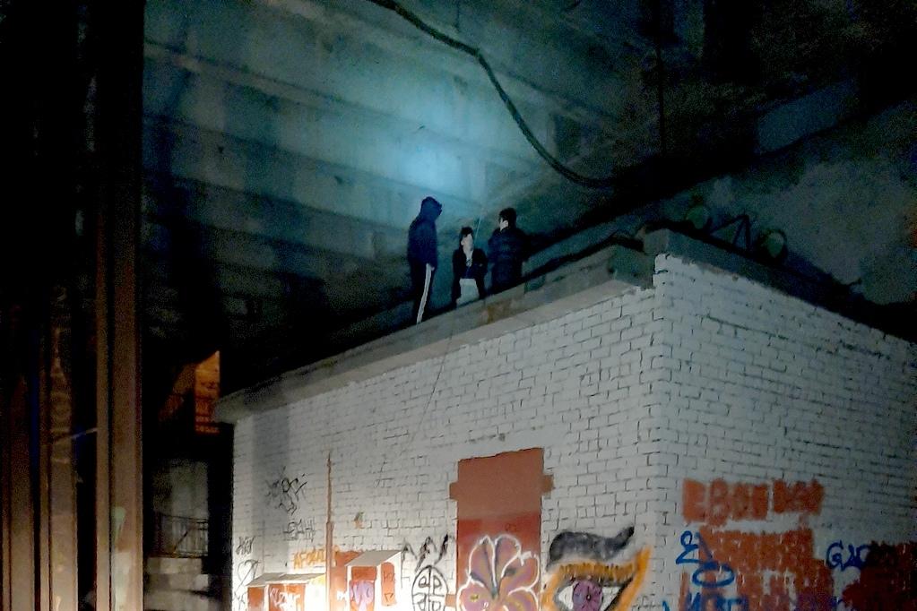 Подростки на крыше